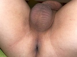 Seconds before a blow job. She loves my fresh shaved balls. i will hope she...