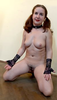My lovely submissive pet, in nadu position, happy to be presented to some n...