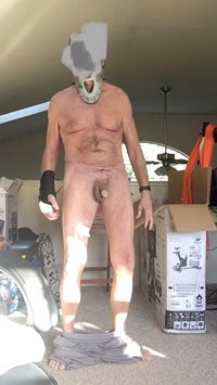Still naked even after accident
