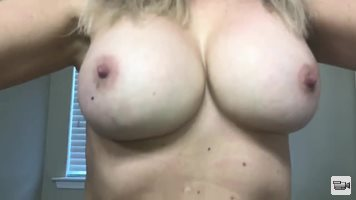 Wife's 36DD Implants and her 2 month overgrown bush